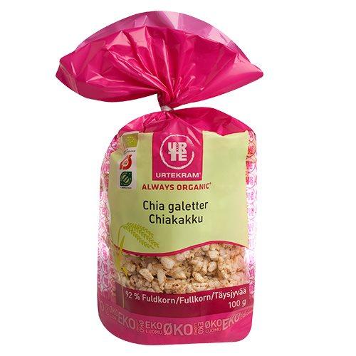 Chiagaletter Økologiske Urtekram - 100 gram