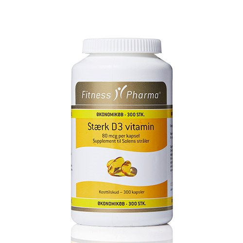 Fitness Pharma Stærk D3 vitamin (300 kap)