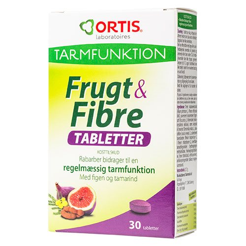 Image of   Frugt & Fibre - 30 tabletter
