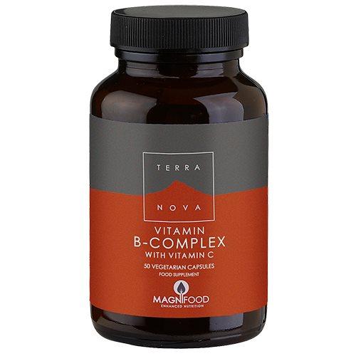 Image of   B-complex med vitamin C Terra Nova - 50 kapsler