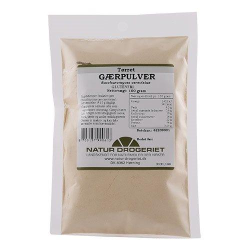 Image of   Gærpulver lys tørret Inaktiv (100 gr) gr fra Naturdrogeriet - 100 gram