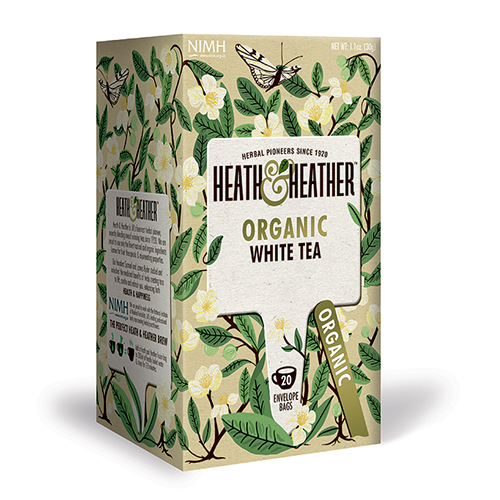 Image of   Heath & Heather Organic White Tea (20 breve)