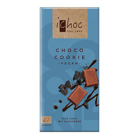 Image of Ichok choco cookie vegansk øko chokolade 80 gram