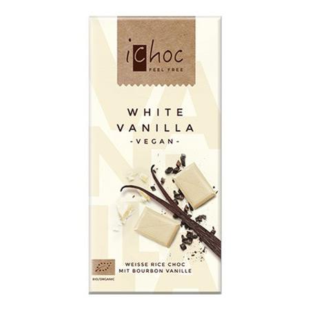 Image of Ichok white vanilla vegansk øko chokolade - 80 gr