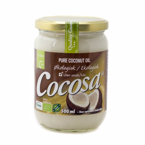 Cocosa ren kokosolie, som stegeolie - 500 ml.