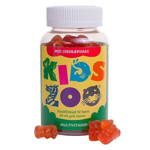 Image of Kids Zoo Multivitaminer med jordbærsmag - 60 tab.