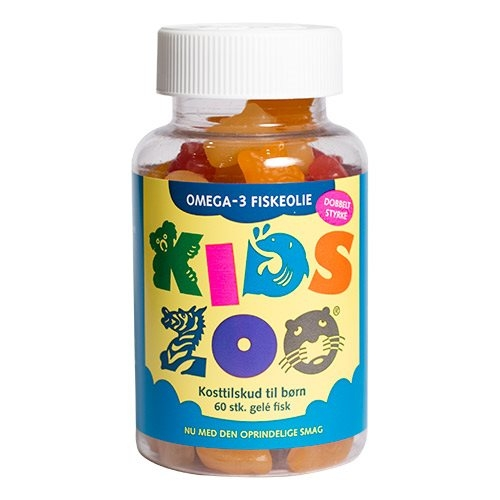 Image of   Kids Zoo Omega 3 gelé fisk - 60 stk.