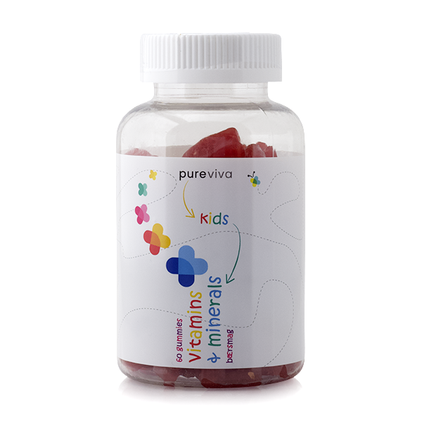 Image of   Pureviva Kids Vitamins & Minerals (60 gummies)