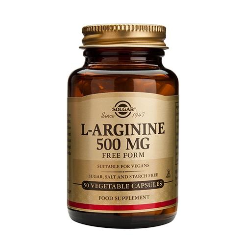 L-Arginine 500mg fra Solgar - 50 kapsler