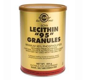 Lecitin 95 Granulat fra Solgar - 454 gram