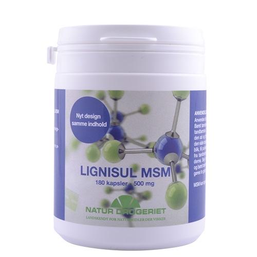 Lignisul MSM Kapsler 500 mg. - 180 kapsler