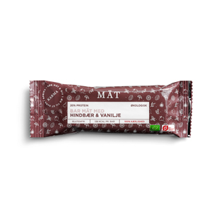 Image of MÄT bar hindbær & vanilje Økologisk - 40 gram