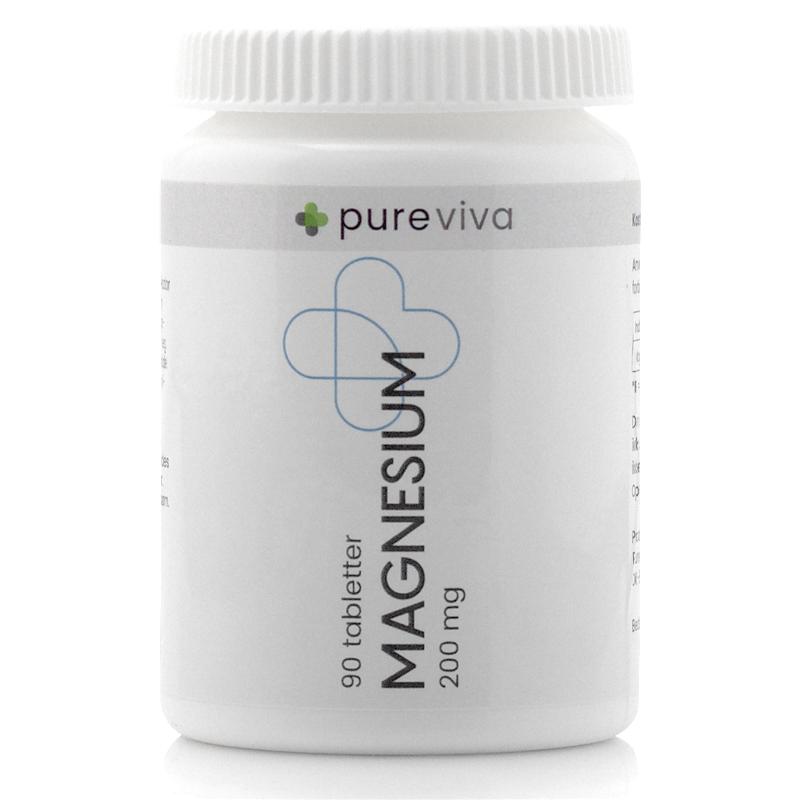 Image of   Pureviva Magnesium 200 mg (90 tab)