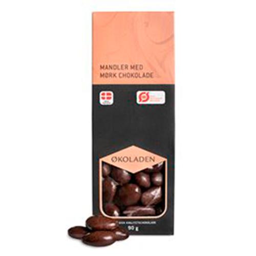 Økoladen Mandler Mørk Chokolade Ø
