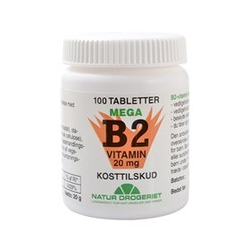 Image of   B2 vitamin 20 mg - 100 tabletter