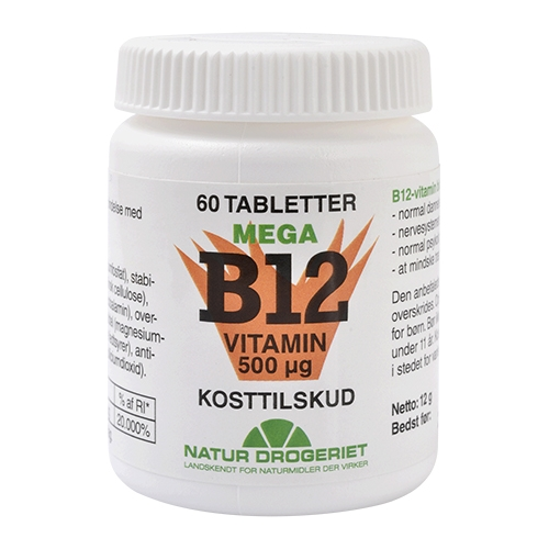 Image of   B12 Mega 500 mcg - 60 tabletter