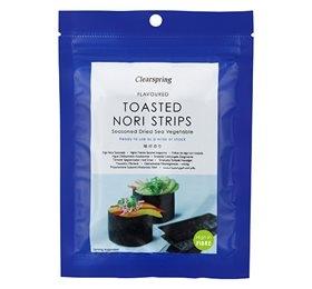 Image of   Nori snack strimler toasted fra Clearspring - 13 g