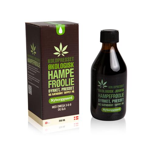 Hampefrøolie Økologisk fra Nyborggaard - 250 ml