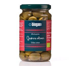 Image of   Oliven grønne uden sten Økologiske - 340 gram