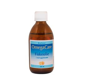 OmegaCare fiskeolie med appelsinsmag - 225 ml.