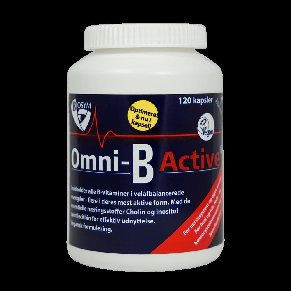 Image of   Biosym Omni-B Active (120 kapsler)