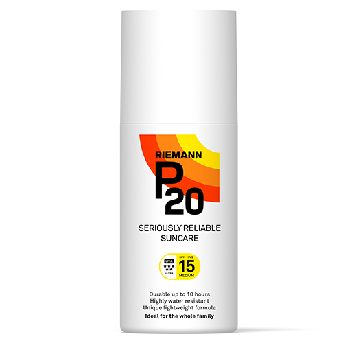 Image of   Riemann P20 Solbeskyttelse SPF 15 spray - 200 ml.