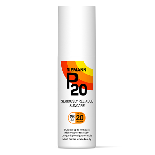 Image of   Riemann P20 Solbeskyttelse SPF 20 spray - 100 ml.