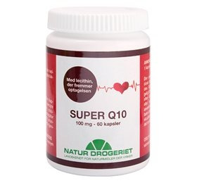 Q10 Super med lechitin 100 mg. - 60 kapsler