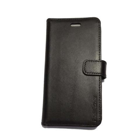Image of Mobilcover iPhone 5-5s-5se sort ægte læder