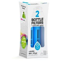 Image of   Dafi filter til filterflaske blå 2stk + mundstykke
