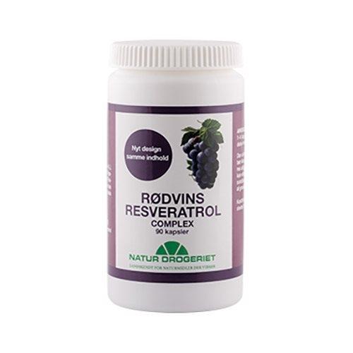 Rødvins-Resveratrol Complex - 90 kapsler