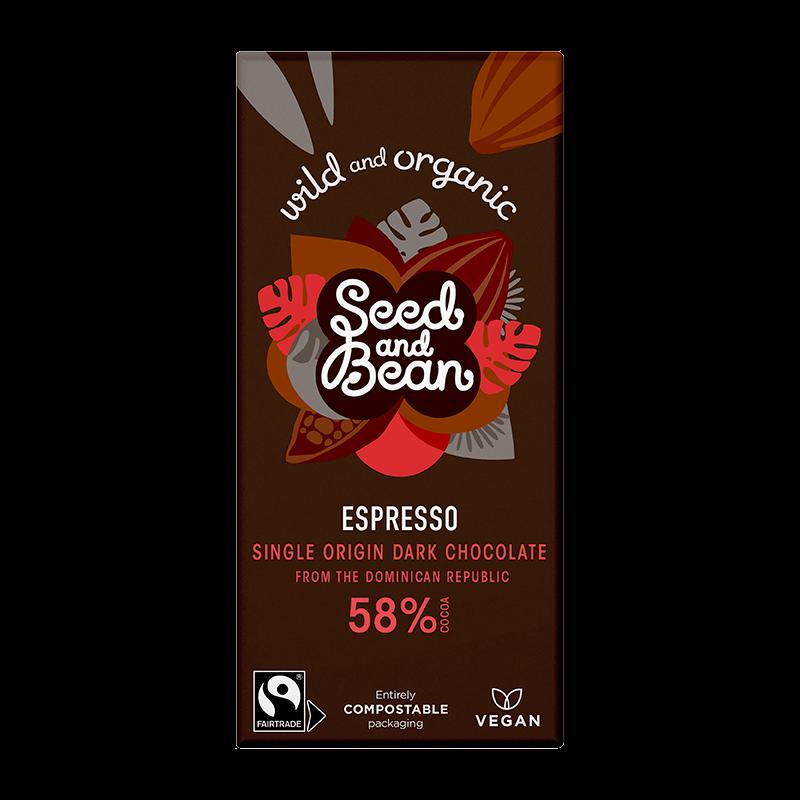 Seed And Bean Mørk Chokolade 58% Kaffe Espresso Ø