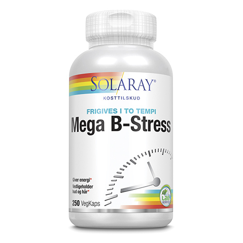 Image of   Mega B Stress fra Solaray - 250 kapsler