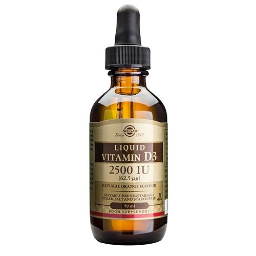Image of D3-vitamin flydende Solgar - 59 ml.