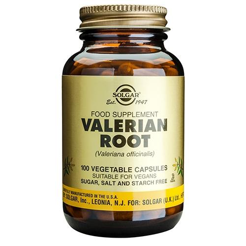 Baldrian rod Valerian Root fra Solgar - 100 kaps