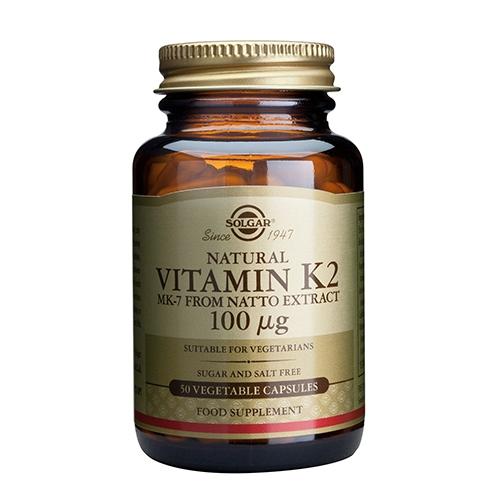 Image of K2 Vitamin fra Solgar - 50 kapsler