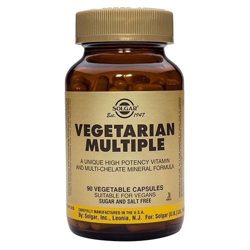 Vegetarian Multiple Solgar - 90 kapsler
